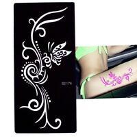 Henna Tattoo Schablone Airbrush Stencil Schmetterling Kina Dövme