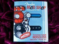 Fender Mod Shop Telecaster single coil pickups set chrome SCN Noiseless mia USA