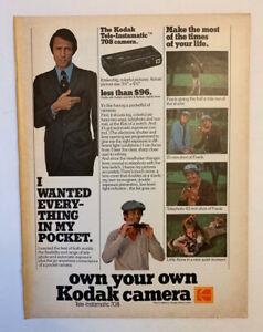 1978 Kodak Camera Print Ad Wanted Everything In My Pocket Original Own Your Own