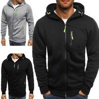 Men's Winter Hoodies Slim Fit Hooded Sweatshirt Outwear Sweater Warm Coat Jacket