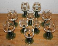 10x Vintage Goblets (6x Wine Glasses @ 200ml + 4x Vodka Glasses @ 100ml), Italy