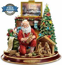 Bradford Exchange Christmas Thomas Kinkade Tabletop Centerpiece Santa Figurine