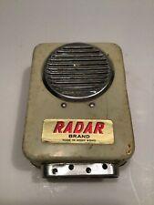 Vintage Vigilant fire and burglar alarm smoke detector Radar brand Hong Kong