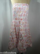 Lilly Pulitzer Pink Perfume Bottle Strapless Summer Dress Size 10