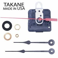 Made in USA Takane Quartz Battery Clock Movement Kit with Hands, Multiple Sizes