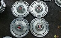 "1974-1976 Ford Granada Ranchero Torino Elite Hubcaps Wheel Covers Hub Caps 15"""