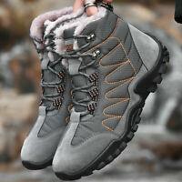 Men's Snow Boots Hiking Shoes Ankle Shoes Winter Warm Cotton Shoes Size 40-46