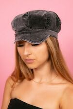 Ladies vintage silvery grey velvet Baker boy hat  Rocha John Rocha bakerboy cap
