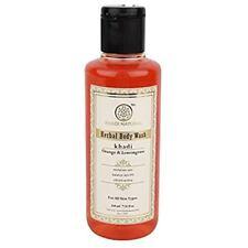 Khadi Natural Orange and Lemongrass Herbal Body Wash 210ml Free Shipping