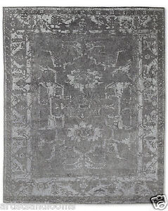Restoration Hardware Arte Charcoal / Charcoal Hand Knotted Rug 5x7 Wool $3039