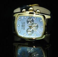 Invicta Men's Grand Lupah Quartz Watch w Five-Piece Leather Set- Mother of Pearl