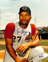 Indians Leon Wagner Authentic Signed 8x10 Photo Autographed BAS 1