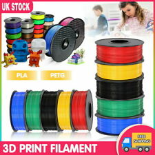 3D Printer Printing Filament 1.75mm 1KG Spool Various Colours PETG/ PLA/ PLA+ UK