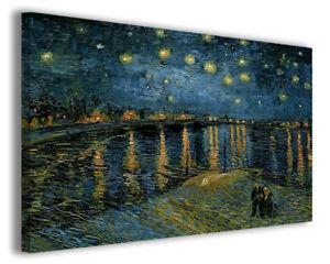 Quadri famosi Vincent Van Gogh XII stampa su tela canvas riproduzione falso