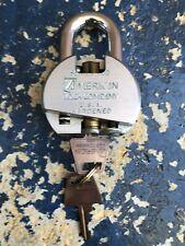 RARE AMERICAN COMPANY CUTOUT PADLOCK SALES REP SAMPLE LOCK LOCKSMITH LOCKSPORT