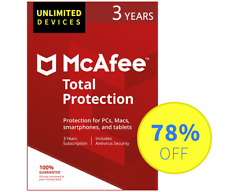 McAfee Total Protection 2018 - Unlimited devices, 3 Years (Subscription)
