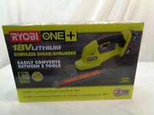 Ryobi 18V One + Cordless Shear/Shrubber Kit (New) Model # P2910