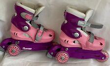 Chicago Skates Training Inline Skate Size J10-J13 Pink Purple Girls Good Cond
