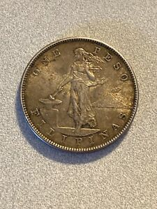 1903-S Silver One Peso Philippines