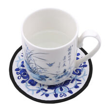 Teapot Mat Embroidery Floral Pattern Ethnic Coaster Cup Mats Hot Drink Placement