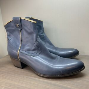 Vic Matie Leather Boot - Made in Italy Vero Cuoio Sz 38 - Upscaled Western Style