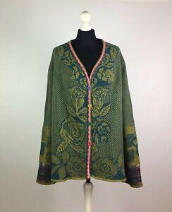 IVKO Women's Cardigan 80% Wool 20% Nylon Size 42