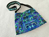 Hmong Tribes Crossbosy Bag Embroidered Fablic Handmade in Thailand Multicolor