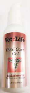 VetzLife Natural Oral Care Gel Dental Hygine Wild Salmon Flavor Dog & Cats 4.5oz