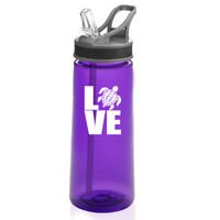 22 oz Sports Water Bottle With Straw Love Sea Turtle