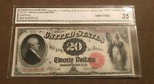 1880 $20. legal tender note note  FR -147 , VF / XF
