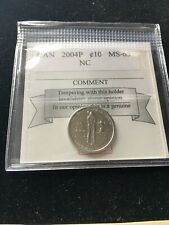2004P  Coin Mart  Graded Canadian, 10  Cent **MS-65 NC**Golf Championship