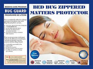 Waterproof Bed bug Anti allergy Dust mite mattress cover encasement protectors