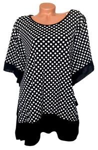 ITALY Damen Shirt Tunika Slinky schwarz Punkte GR. L 44 46 48 NEU - IT167