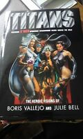 Titans of Marvel Heroic Visions of Julie Bell and Boris Vallejo storm spiderman