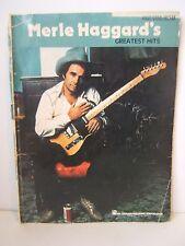 Merle Haggard Greatest Hits Songbook Sheet Music Piano Vocal Guitar Hal Leonard