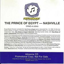 The Prince of Egypt - Nashville Soundtrack Promo Advance CD  RARE  SKG Music