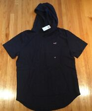 Hollister Mens Short Sleeve Textured Hoodie: Size Large