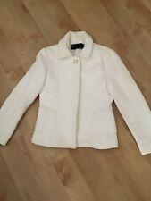 ZARA Winter White Fitted Jacket Size Medium