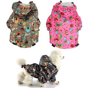 For SMALL Pet Cat Dog RainCoat Hoodie Coat WATERPROOF Rain Jacket Rainwear XXS-L