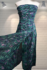 Dreamy Vintage ANOKHI Indian Gauzy Cotton Floaty Strapless Summer Hippy Dress