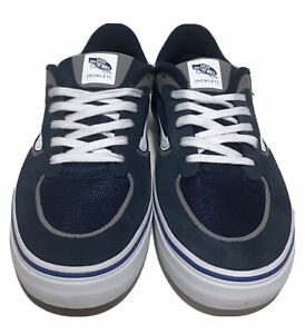 Vans Geoff Rowley Rapidweld Pro Mens Size 12 Ultracush Skate Shoes Navy White