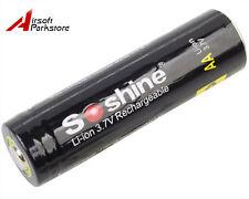 Soshine 14500 3.7V 800mAh Protected Rechargeable Li-ion Battery for Flashlight