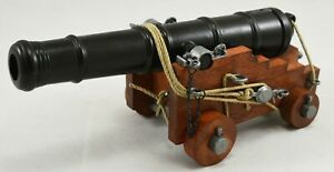 DENIX Replica 18th C Naval Cannon. Stunning Museum Quality. Heavy, Moving Parts