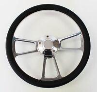 """60-73 All VW Volkswagen Beetle Bug Black and Billet Steering Wheel 14"""""""