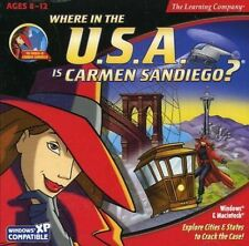 Broderbund Where in the USA is Carmen SanDiego? [CD, 1999] PC|Mac Llke New