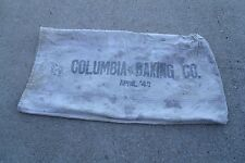 Vintage 1943 Columbia Baking Co APRIL / 43  Feed Seed Sack good for decor