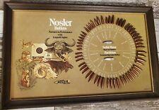 Vintage Nosler Real Bullets Retail Display Board Advertising Sign 1828/77