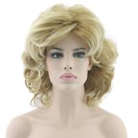 Blonde Short Wigs Wavy Hair Cosplay Synthetic Heat Resistance For Female Fashion