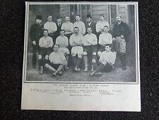 "ENGLISH LEAGUE FOOTBALL TEAM v Scottish 1893  Approx 7"" x 5"" ORIGINAL PRINT"