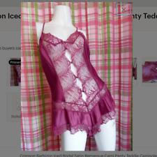 Crimson Barbizon Iced Bridal Satin Remarque Cami Panty Teddie Camisole Camisole